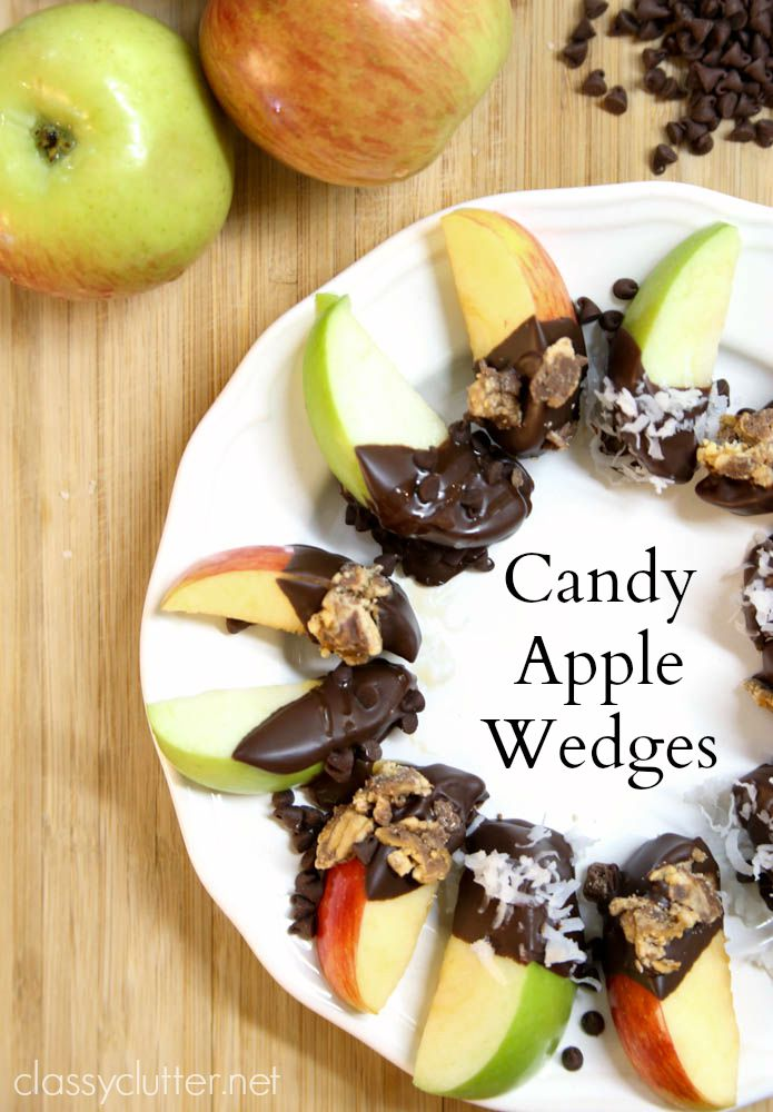 Candy Apple Wedges - www.classyclutter.net