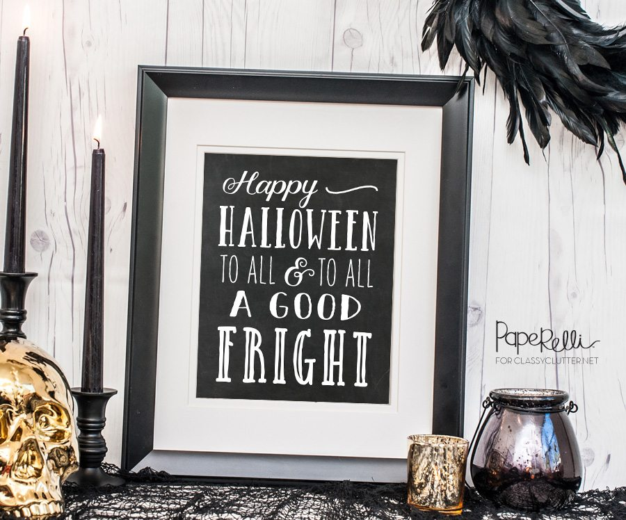 Free Halloween Print by Paperelli @ClassyClutter
