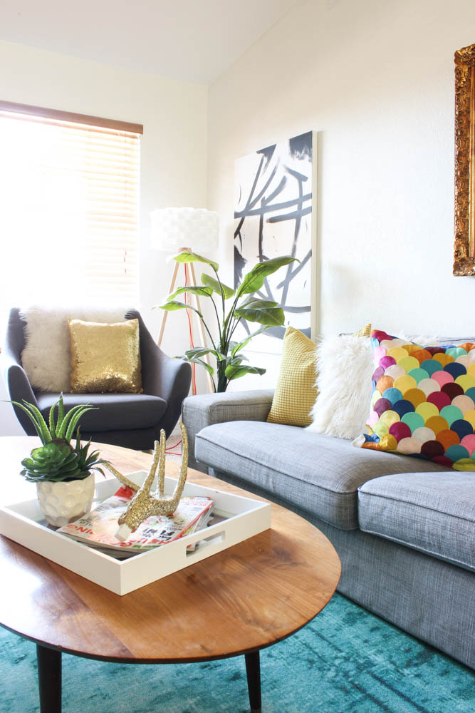 Colorful Living Room Reveal-14