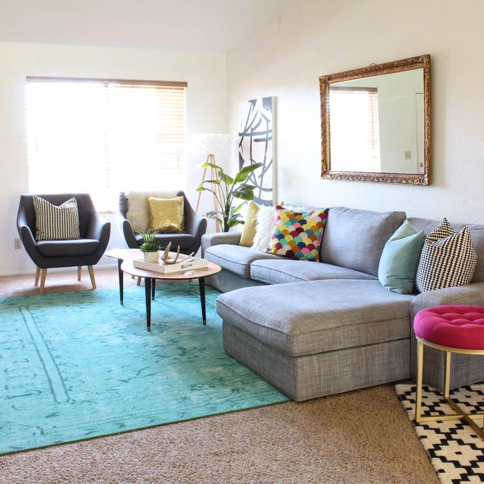 Colorful Living Room Reveal 20
