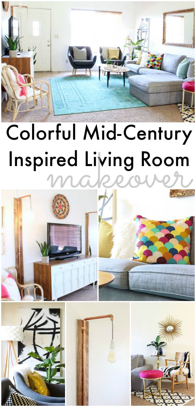 Colorful Mid-Century Glam Living Room - www.classyclutter.net ...