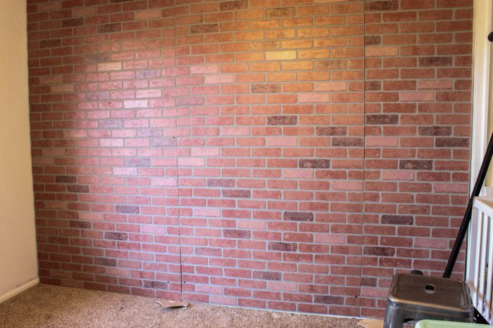 DIY Faux Brick Wall Map-1