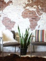 DIY Faux Brick Wall Map-14