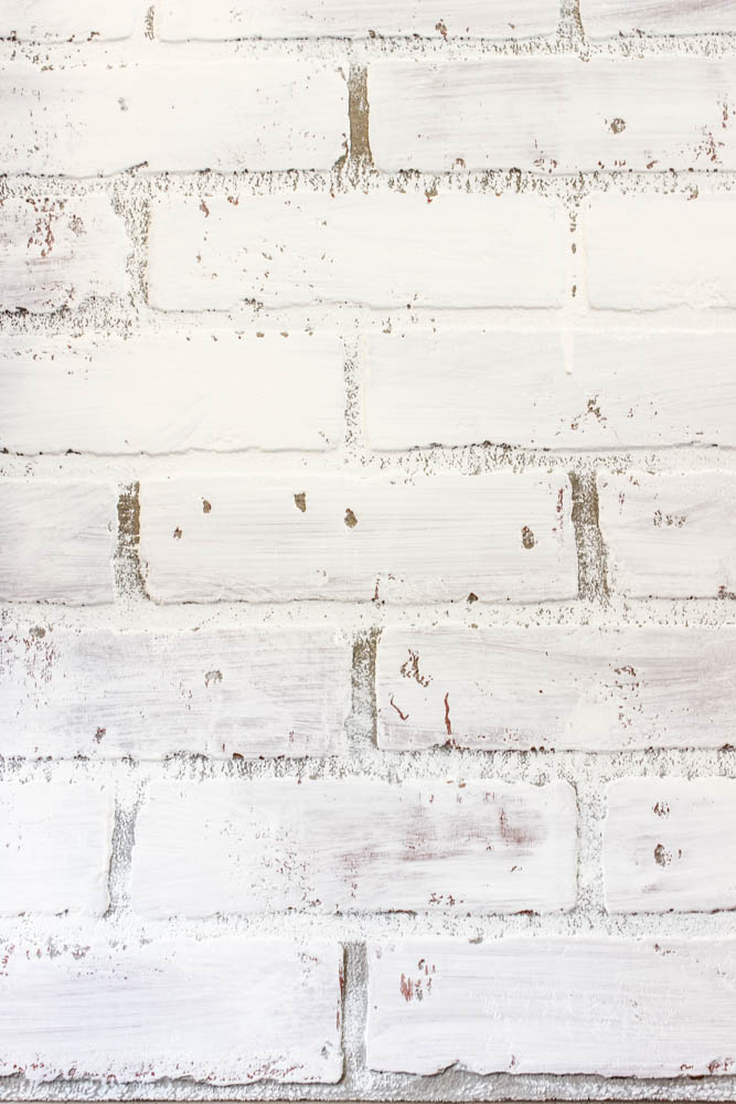 diy white brick accent wall