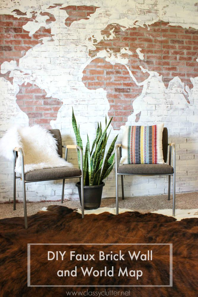 how to get brick accent wall with faux brick