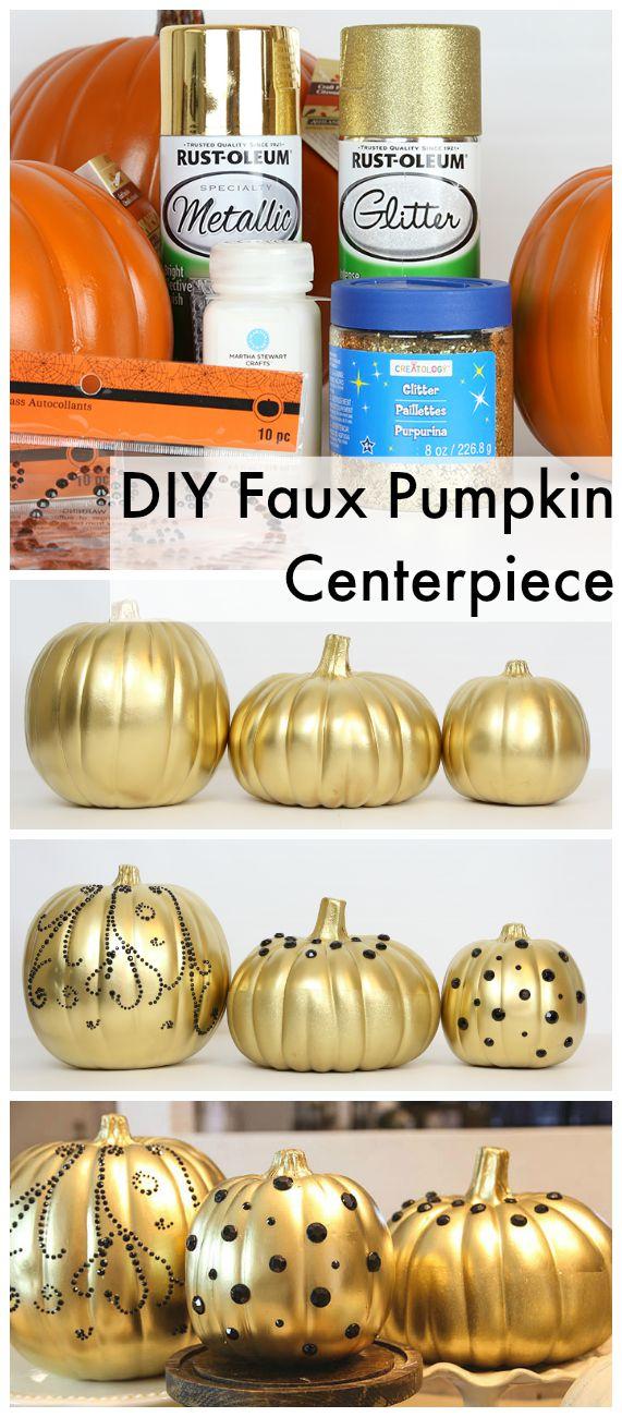 DIY Faux Pumpkin Centerpiece