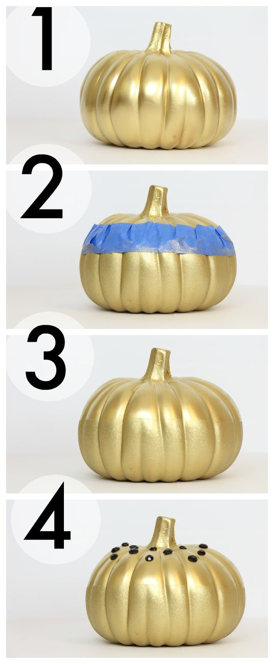 DIY Glittered Pumpkin