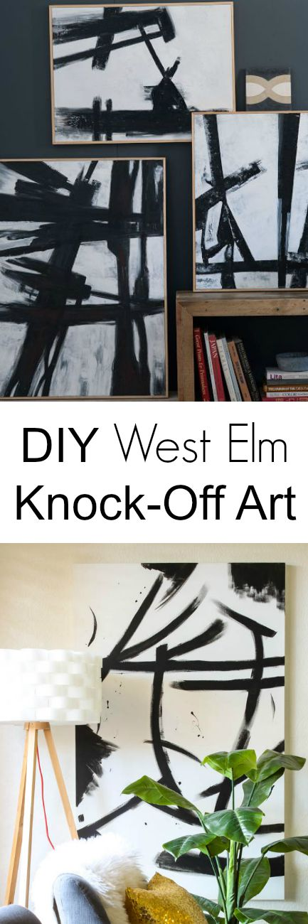 DIY West Elm Inspired Art