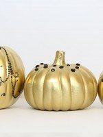 Embellished Gold Pumpkins