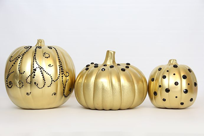Embellished Gold Pumpkins