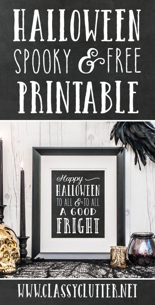 Free Halloween Art Printable @ClassyClutter designed by @Paperelli