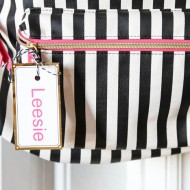 Back to School: DIY Backpack Tags