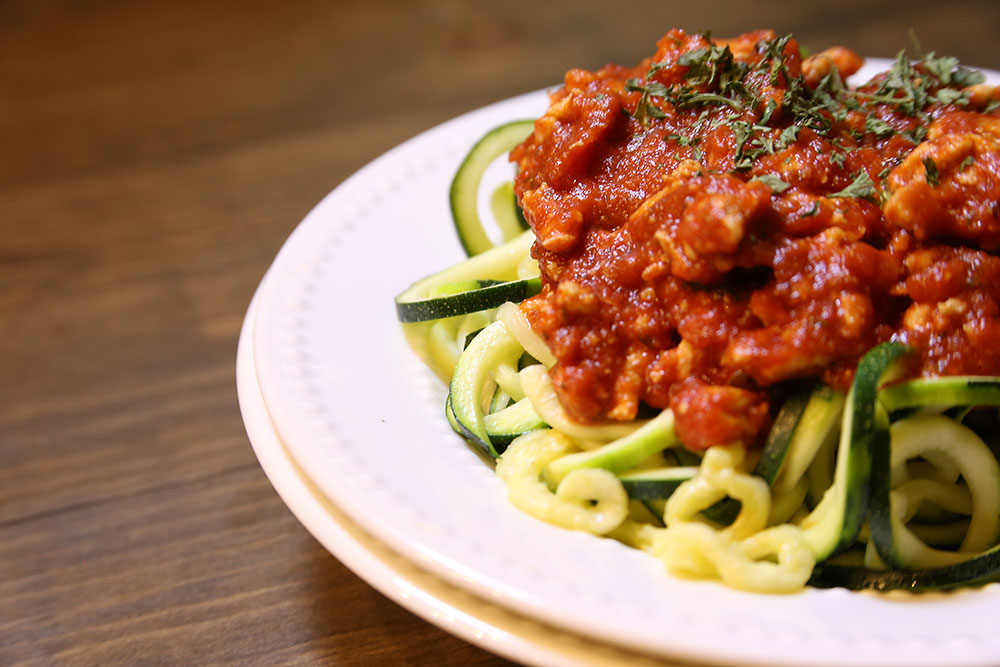 Zoodles and Meat Sauce
