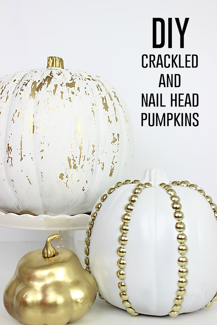 Crackled and Studded Pumpkins