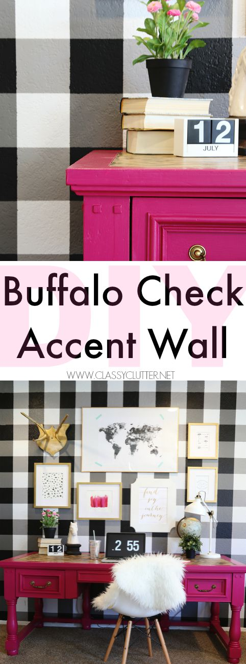 DIY Buffalo Check Accent Wall