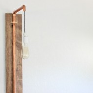 DIY Projects: Copper Wall Sconce