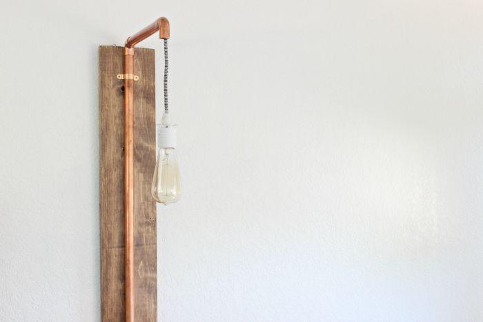 DIY Copper Sconce Pendant Light - www.classyclutter.net
