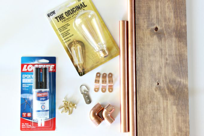 DIY Copper Wall Sconce - Materials