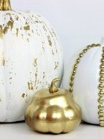 DIY Crackled and Studded Pumpkins - www.classyclutter.net