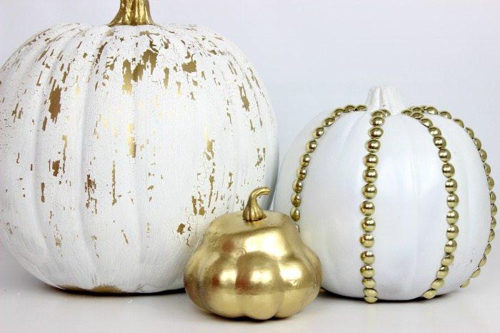 Crackled And Studded Pumpkins