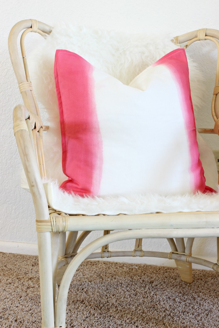 DIY Dip Dyed Pillow