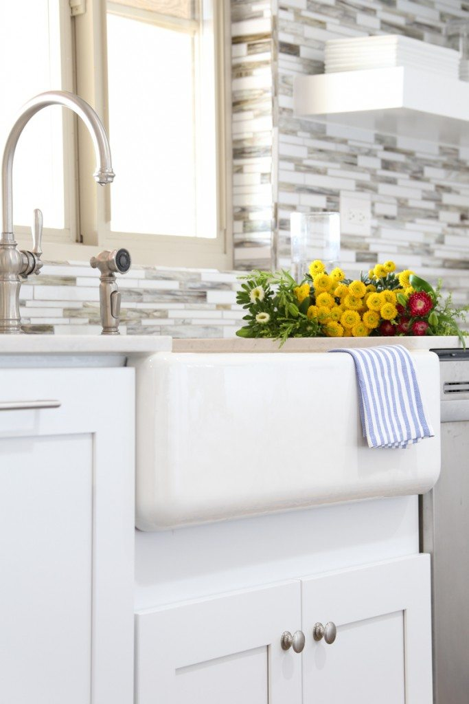 Bettijo's farmhouse sink and faucet from Kohler