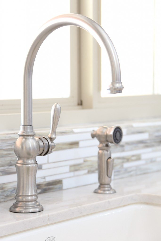 Kohler Artifacts Faucet is perfect for a farmhouse kitchen