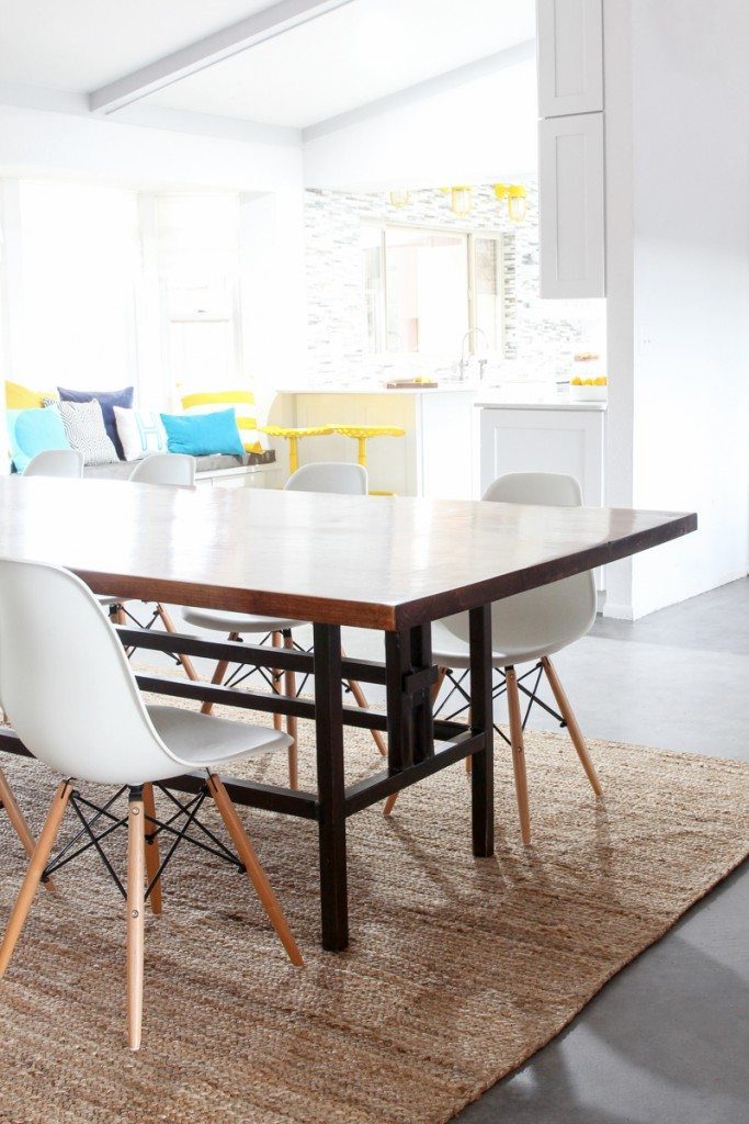 Bettijo's new, 10-foot kitchen table