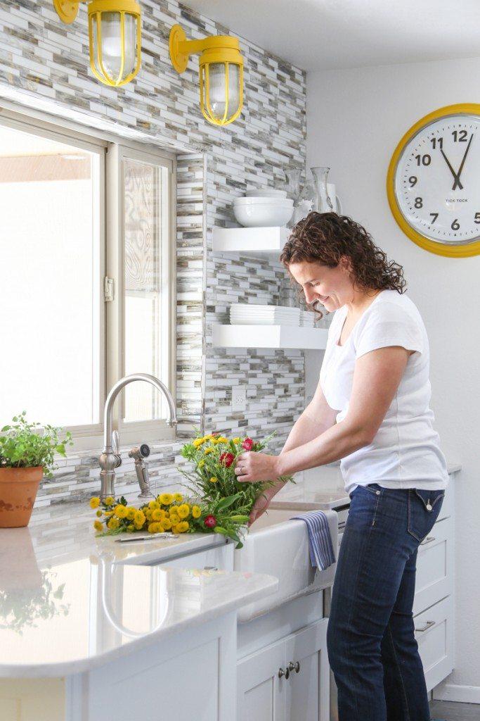 Bettijo in her new KraftMaid kitchen!