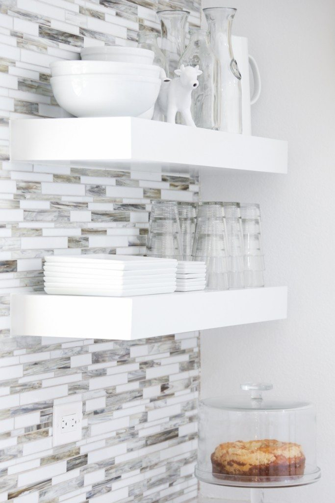 I want floating shelves in my kitchen!