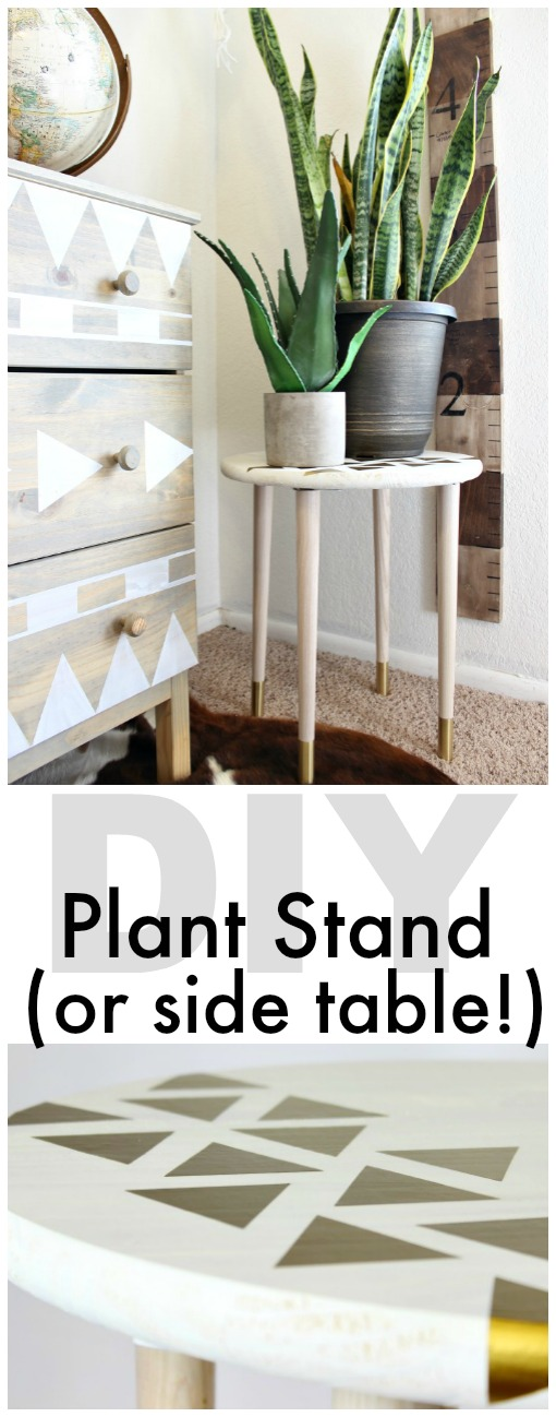 DIY Plant Stand or Side Table