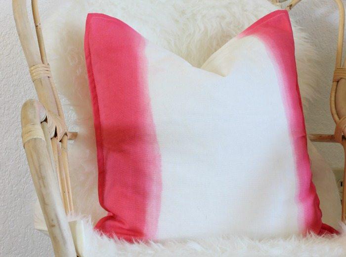 Dip Dyed Pillow - www.classyclutter.net