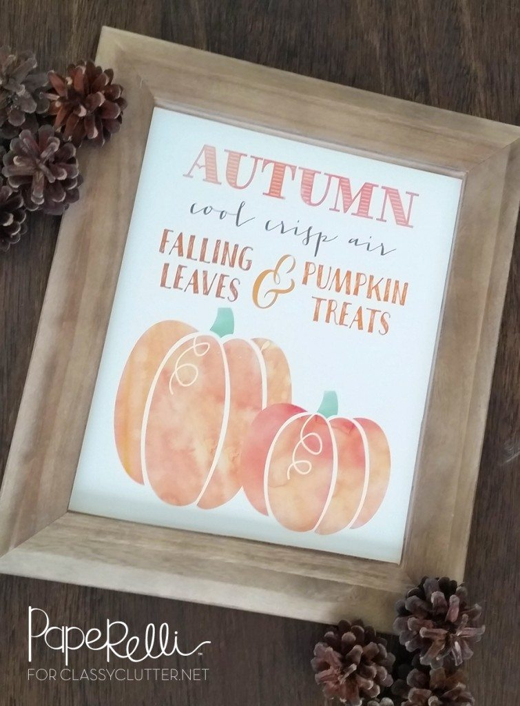 Fall Pumpkin Printable by Paperelli