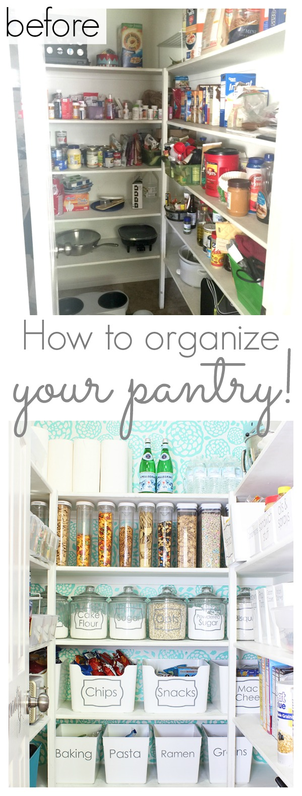 How to organize your pantry - www.classyclutter.net