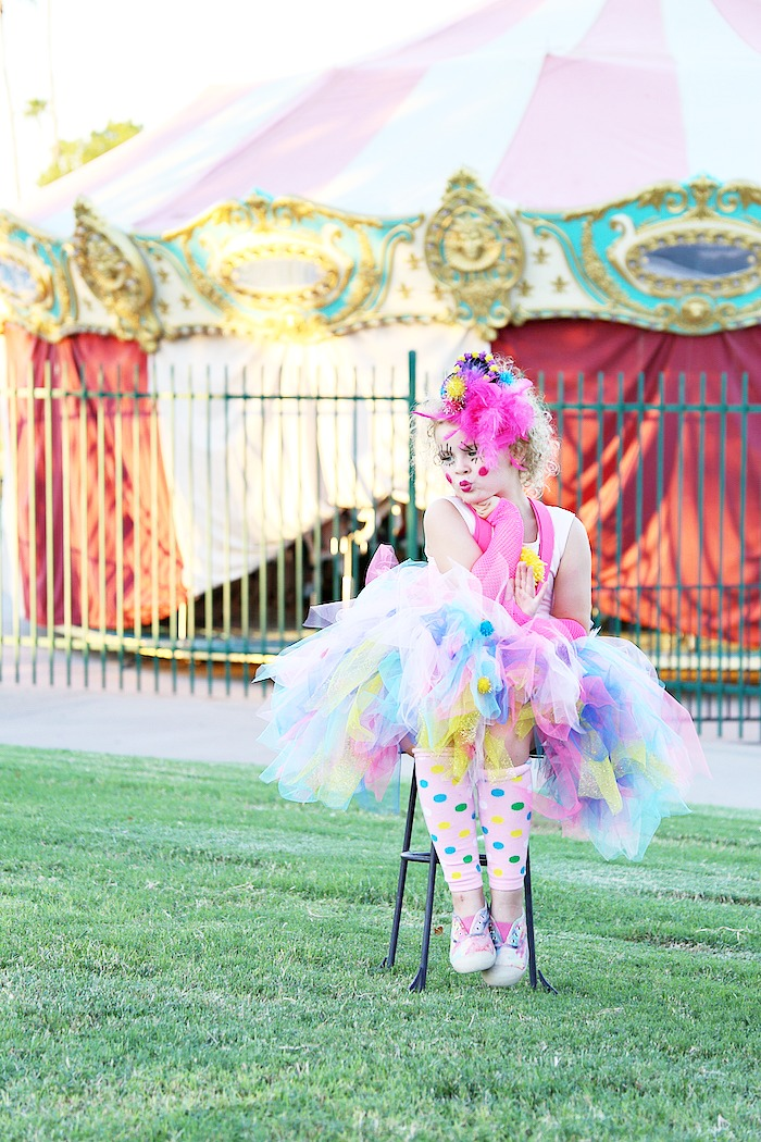 How to make a DIY Clown Costume  sc 1 st  Classy Clutter & Halloween Costume Ideas: Girly Clown Costume - Classy Clutter