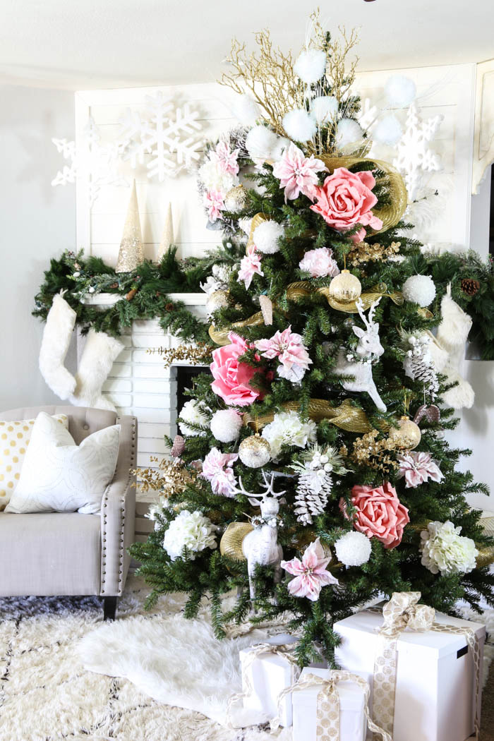 Pink and Gold Dream Christmas Tree-13