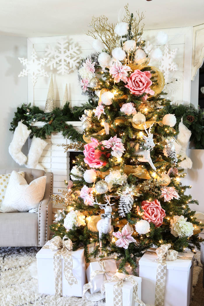 pink and gold dream christmas tree 14 - Christmas Tree Michaels