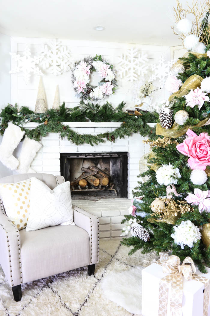 Pink and Gold Dream Christmas Tree-27
