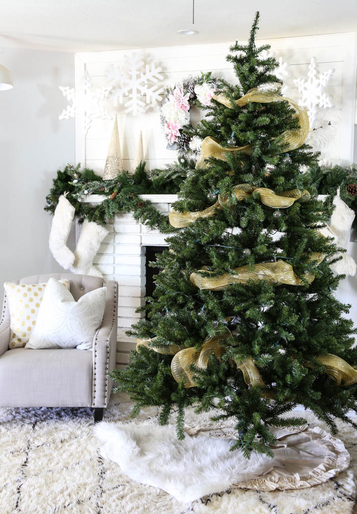 Pink and Gold Dream Christmas Tree-3
