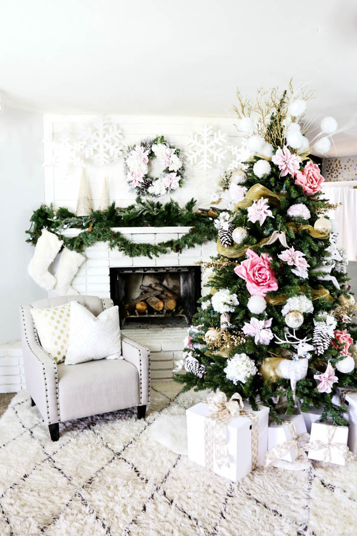 pink and gold dream christmas tree 30