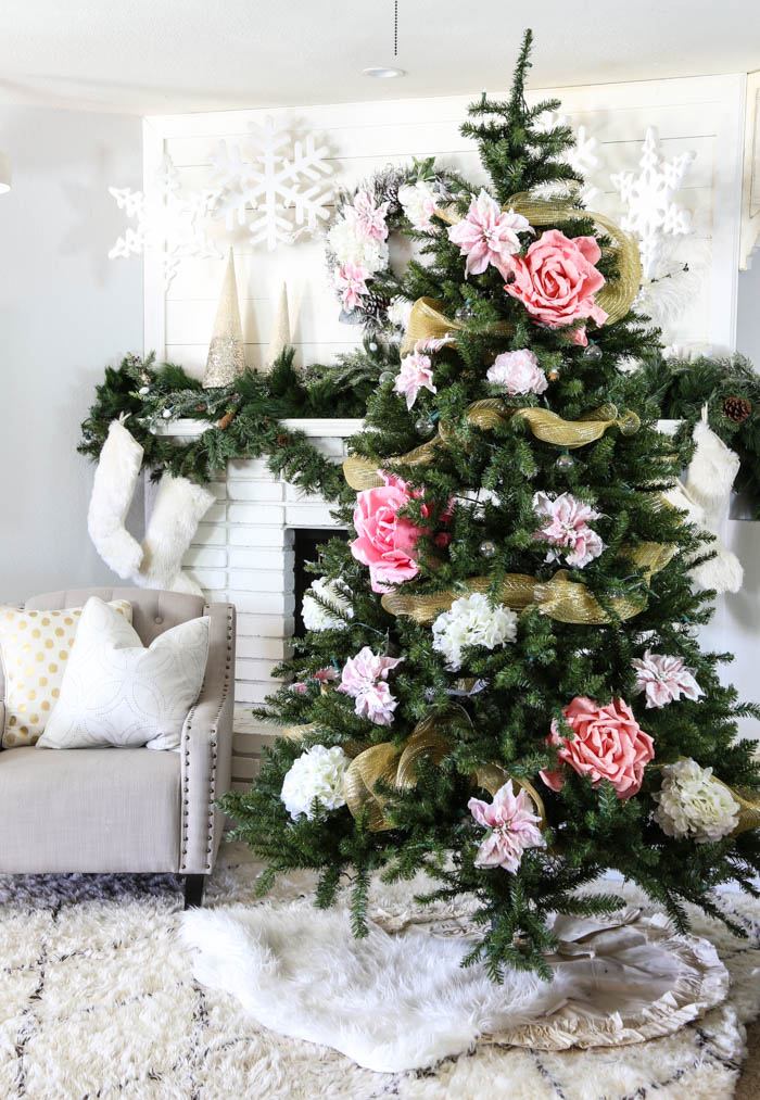 Pink and Gold Dream Christmas Tree-7