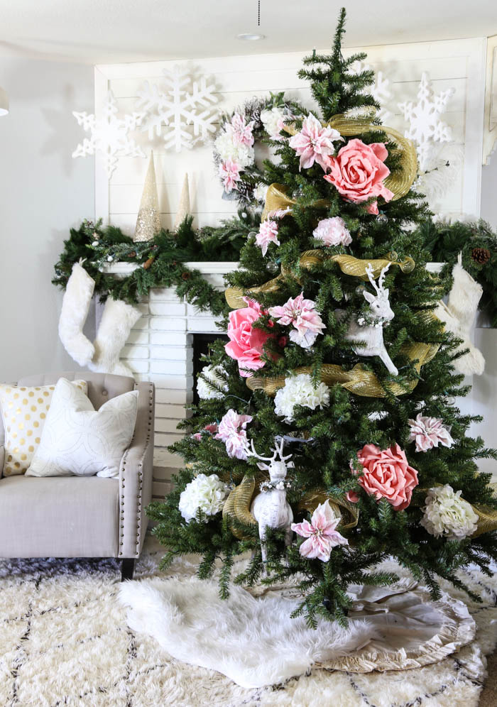 Pink and Gold Dream Christmas Tree-8