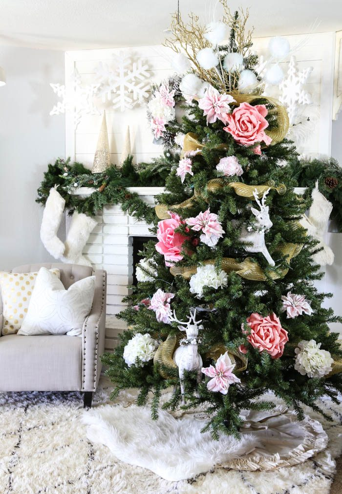 Pink and Gold Dream Christmas Tree-9