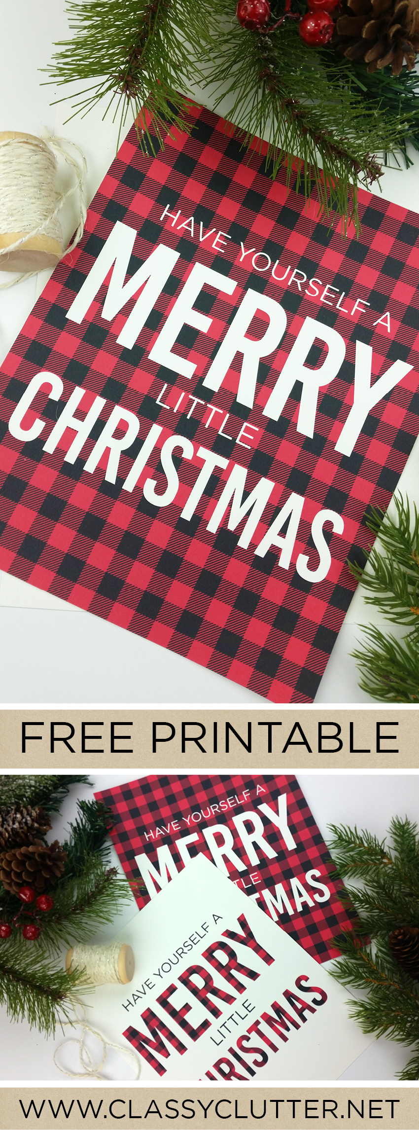 Buffalo check plaid christmas print classy clutter christmas printable by paperelli for classy clutter solutioingenieria Gallery