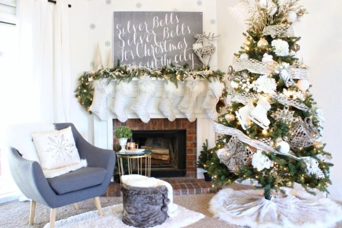Cozy Christmas Mantel and Christmas Tree