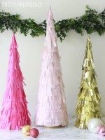 DIY Fringe Christmas Trees