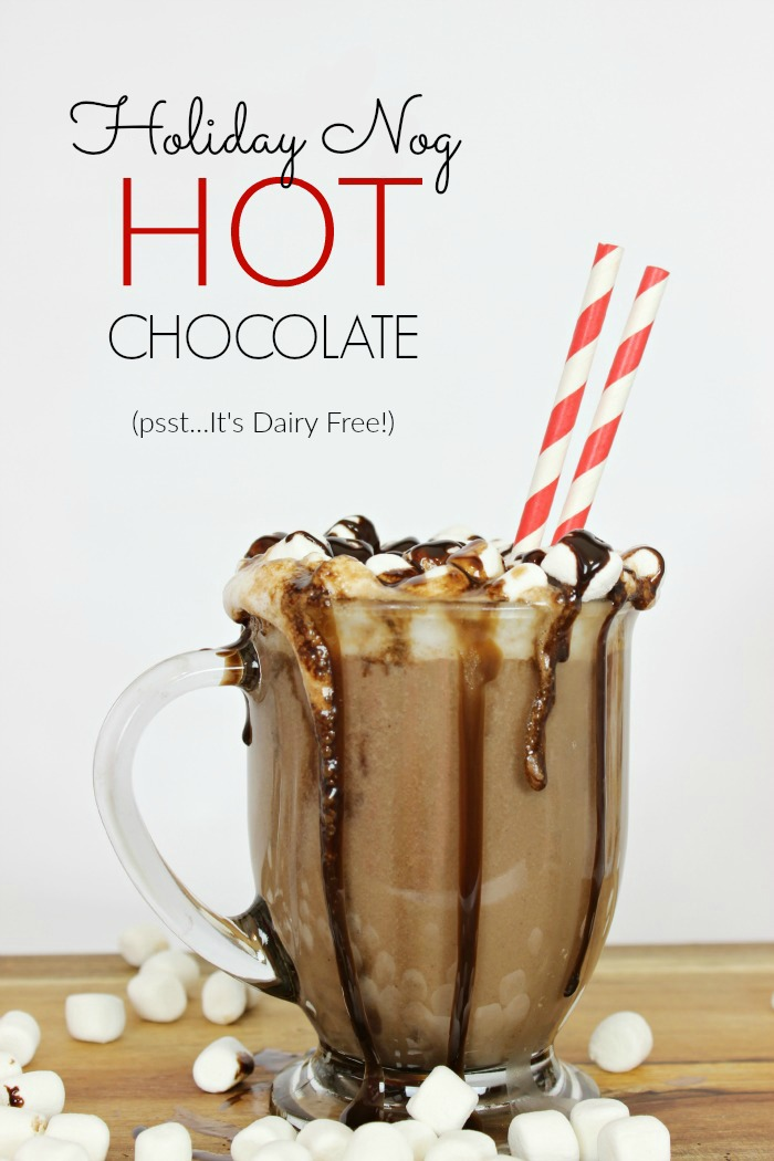 Dairy-Free Egg Nog Hot Chocolate - www.classyclutter.net