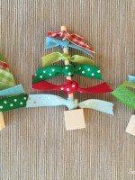 Easy Ribbon Christmas Trees