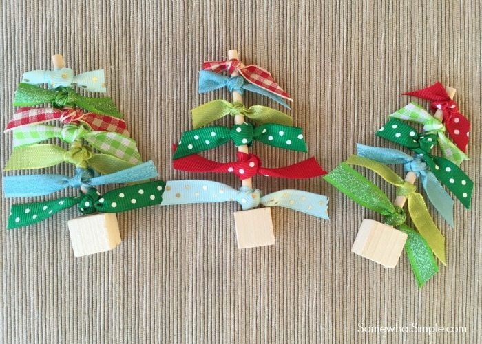 Easy Ribbon Christmas Trees