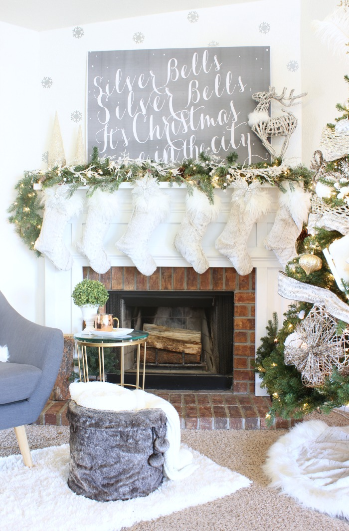 Frosted Noel Christmas Mantel and Tree